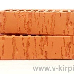 Кирпич лицевой керамический одинарный красный кора М150 ГОСТ 530-2012
