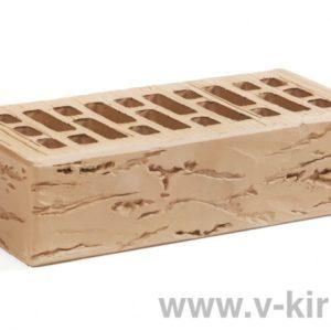 Кирпич лицевой керамический одинарный крафт руст М175 ГОСТ 530-2012