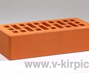 Кирпич лицевой керамический одинарный красный М150 с утолщенной стенкой ГОСТ 530-2012
