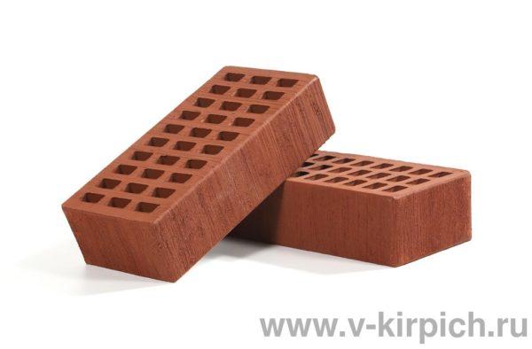 Кирпич лицевой керамический одинарный бордо бархат М150 Воротынский
