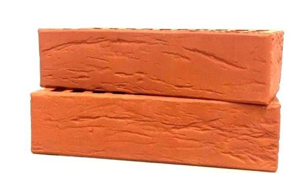 Кирпич лицевой керамический одинарный красный М150 винтаж Воротынский