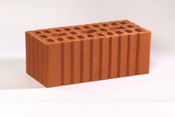 Кирпич рядовой керамический утолщенный красный рифленый М150 Воротынский
