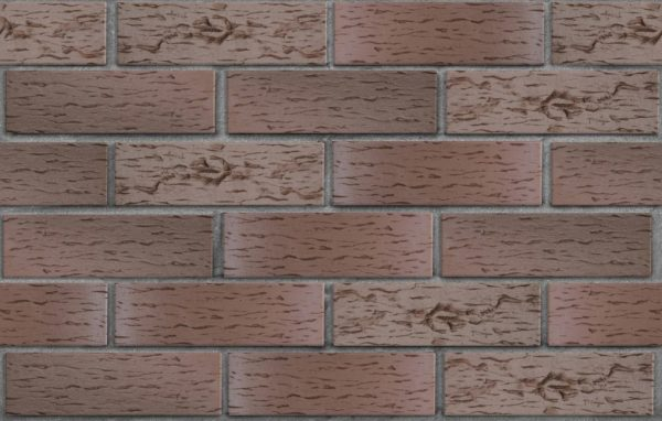 "Клинкер фасадный темно-терракотовый флэшинг ""Брюгге"" 0,71 NF береста ЛСР"